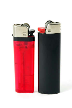 closeup of two different style lighters photo
