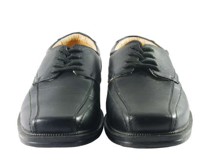 Closeup of black male ellegant shoes  photo