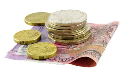 Australian Cash über weiße Oberfläche