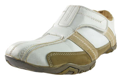 Closeup of sport shoe over white Stock Photo - 9127488