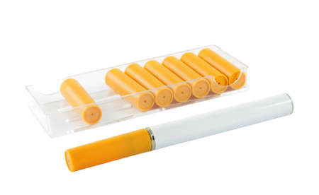 elektronische Zigarette mit neuen Patronen weiß