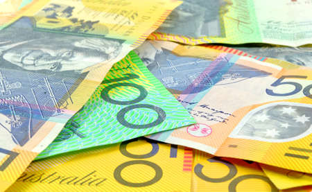australian money closeup as a background