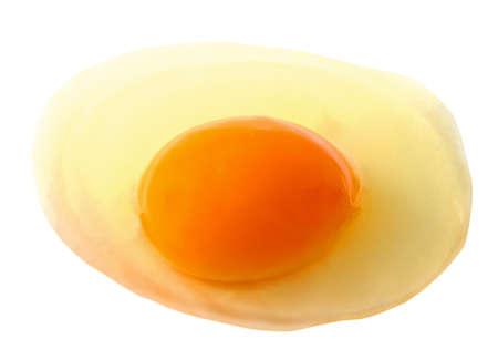 broken egg closeup over white background Stock Photo - 9928049