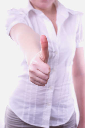 business woman with thumbs up Stock Photo - 10043246