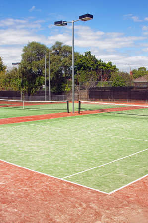 closeup of green tennis court Stock Photo - 13400552