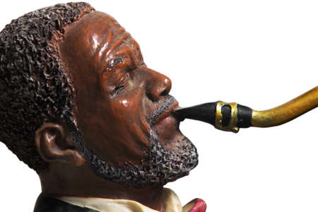 closeup of statue of saxophone player photo