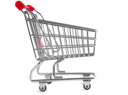 shopping trolley isolated on white background Stock Photo - 13400560