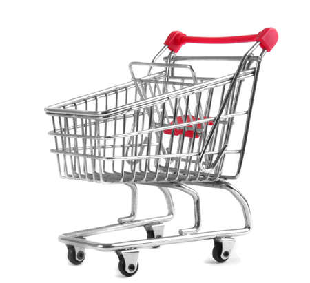 shopping trolley isolated on white background Stock Photo - 13400571