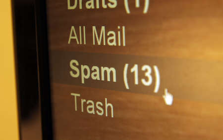 spam mail: spam mail folder closeup
