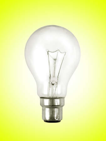 light bulb on the yellow surface photo