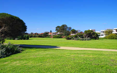 city park in sunny day.Melbourne Australia Stock Photo