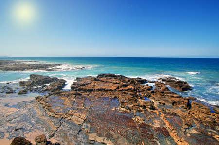 Beautiful Australian coast closeup in summer photo