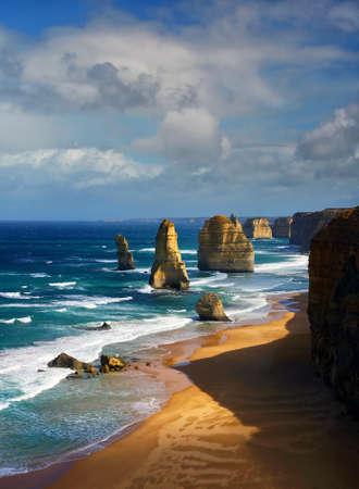 beautiful 12 apostles in Australia Stock Photo