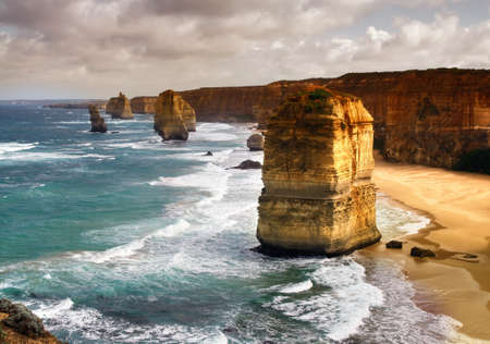 beautiful 12 apostles in Australia Stock Photo