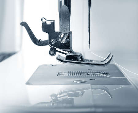 old working sewing machine closeup photo