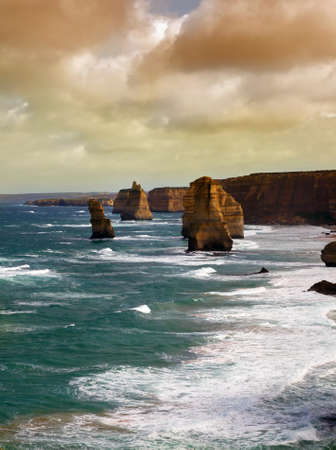 dramatic beautiful 12 apostles in Australia photo