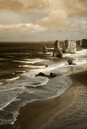 dramatic beautiful 12 apostles in Australia photo