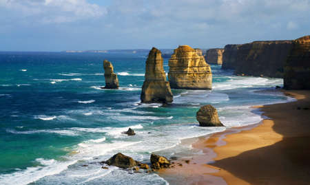 dramatic beautiful 12 apostles in Australia
