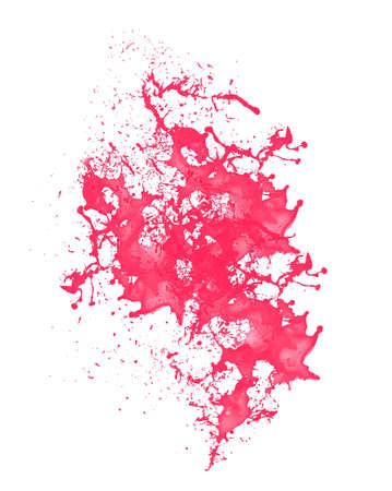 red paint splash over white surface Stock Photo