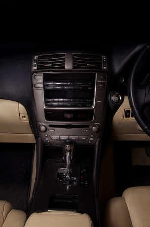 dark car interior closeup photo
