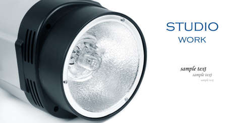 studio light flash lamp closeup photo