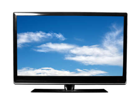 big tv with sky photo