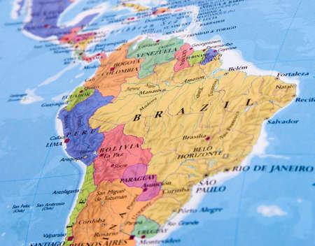Brazil closeup in the open atlas