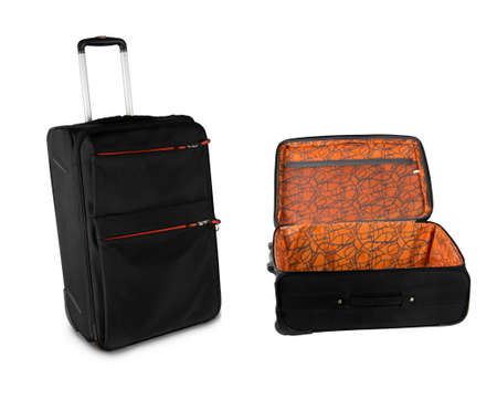 travel suitcases over white surface photo