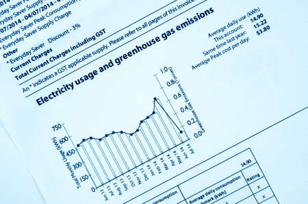 electricity bill with graph closeup
