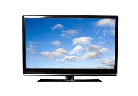 tv monitor with sky view photo