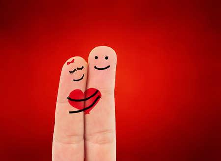 two fingers: romantic two fingers in love