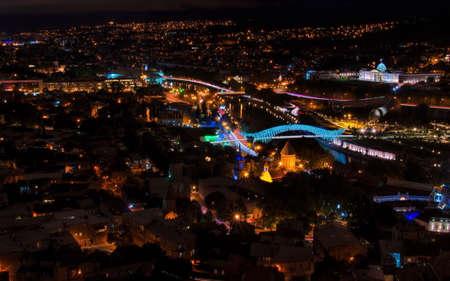 tbilisi: Tbilisi per la notte, Georgia Archivio Fotografico