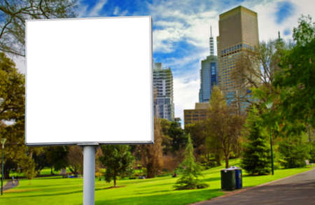 empty billboard in the park photo