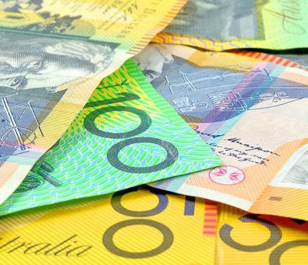 australian money: australian money closeup as a background