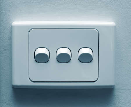switches: electronic wall switches closeup
