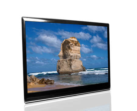 tv monitor with 12 apostles photo