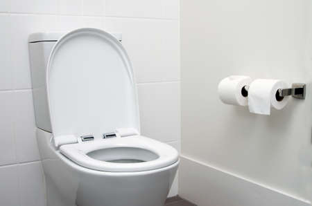 white home toilet closeup