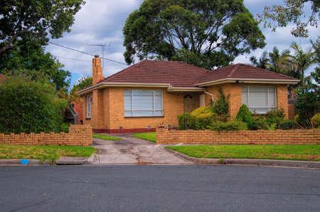 fachada: casa t�pica de Australia. Melbourne, Australia