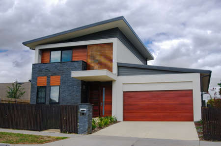 facade: casa t�pica de Australia. Melbourne, Australia