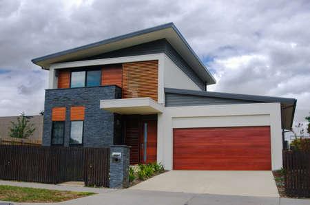 case moderne: tipica casa australiana. Melbourne, Australia Editoriali