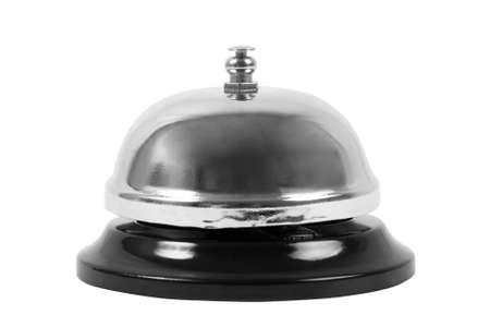 metalic ring bell on white photo