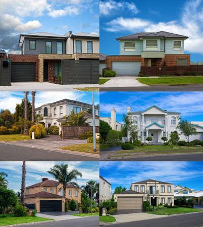 Australian residential houses collage