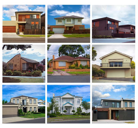 Australian residential houses collage