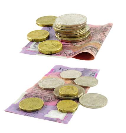 australian money on white photo