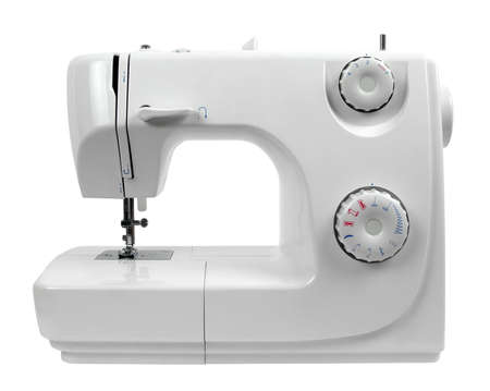 sewing machine isolated on white Banque d'images