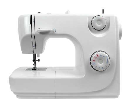 sewing machine isolated on white Standard-Bild