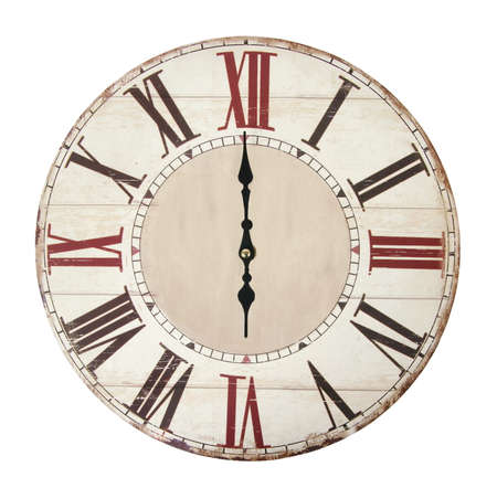 vintage clock on the white surface