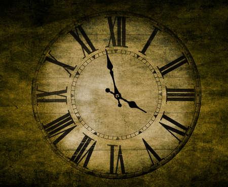 abstract textured vintage clock closeup