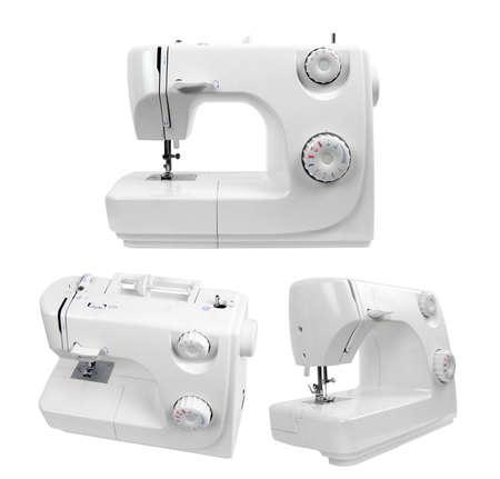 maquinas de coser: m�quinas de coser aislados en blanco Foto de archivo