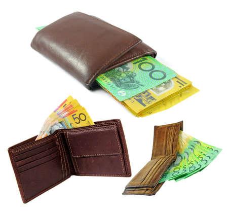 australian money: australian money in the wallets